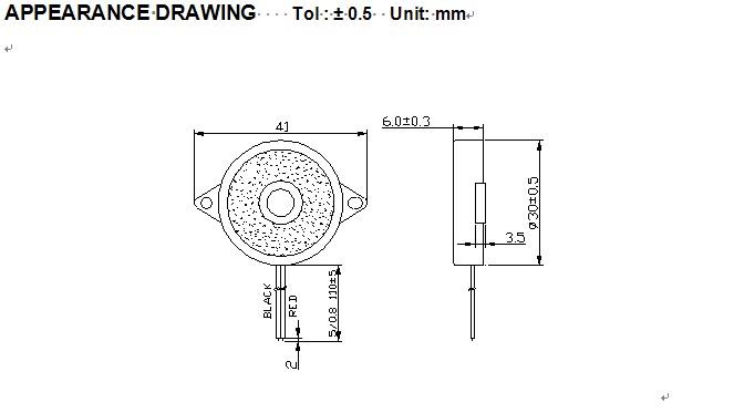 压电式无源引线蜂鸣器